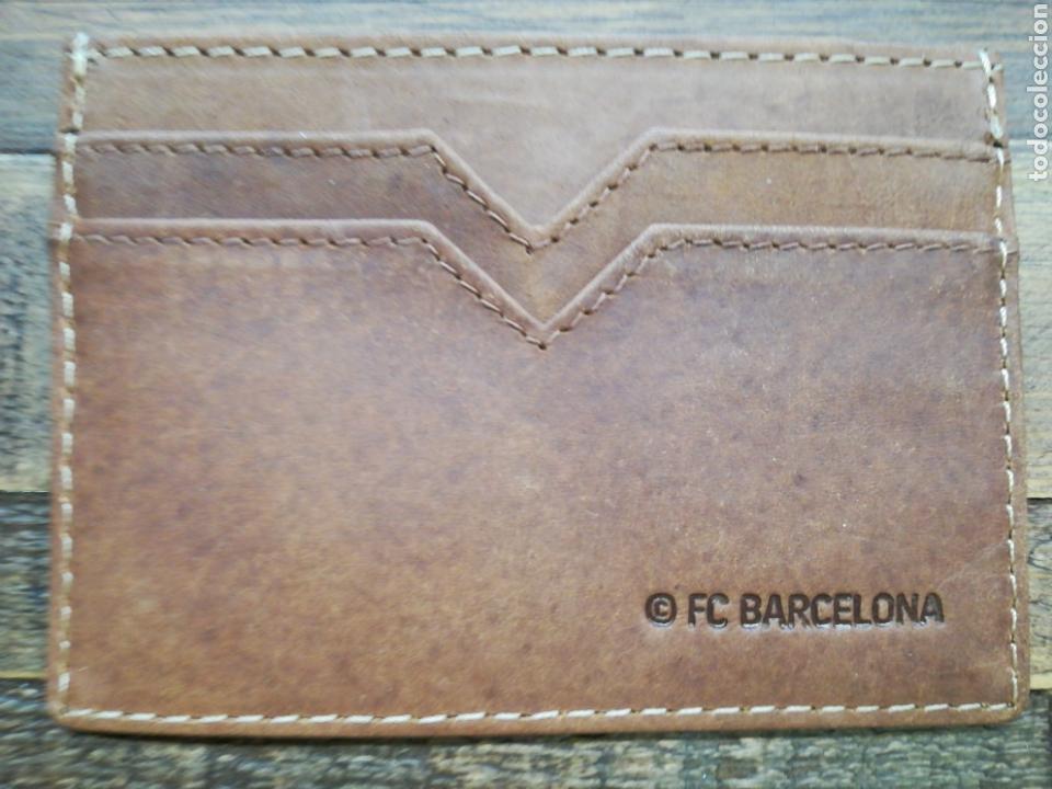 Coleccionismo deportivo: PORTA TARJETAS DE PIEL FC BARCELONA - Foto 5 - 151686526