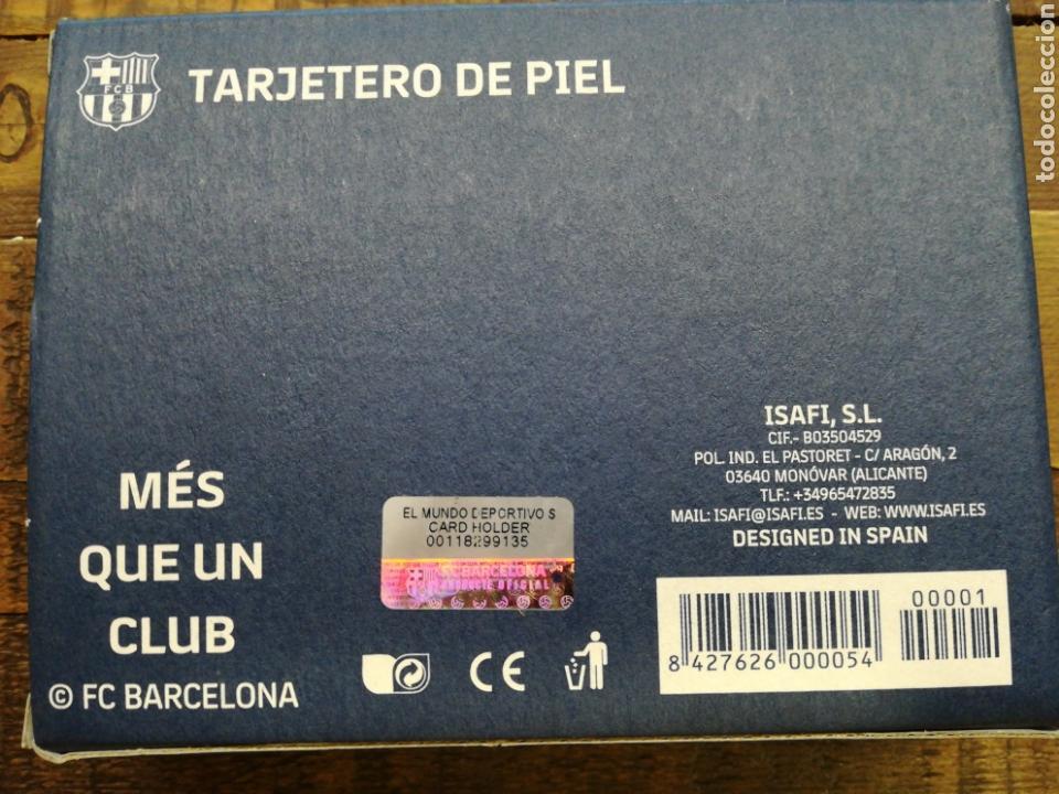 Coleccionismo deportivo: PORTA TARJETAS DE PIEL FC BARCELONA - Foto 6 - 151686526