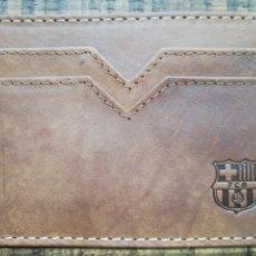 Coleccionismo deportivo: PORTA TARJETAS DE PIEL FC BARCELONA. Lote 151686526