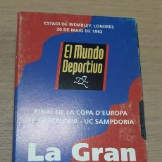 Coleccionismo deportivo: VIDEO VHS LA GRAN VICTORIA. FINAL WEMBLEY 92. FC BARCELONA. BARÇA.. Lote 151873174