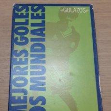 Coleccionismo deportivo: VIDEO VHS LOS MEJORES GOLES DE LOS MUNDIALES. PELE-P.ROSSI-MARADONA-CRUYFF-MÜLLER-B.CHALTON-EUSEBIO.. Lote 151874574