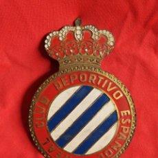 Coleccionismo deportivo: ANTIGUA PLACA CHAPA PARA EL COCHE REAL CLUB DEPORTIVO ESPAÑOL - FUTBOL. Lote 151983726