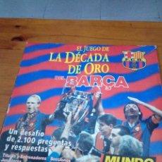 Coleccionismo deportivo: EL JUEGO. LA DÉCADA DE ORO DEL BAÇA. BARCELONA. . Lote 152333258