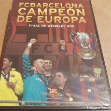 Coleccionismo deportivo: FC BARCELONA / CAMPEÓN DE EUROPA / FINAL DE WEMBLEY 2011 / DVD PRECINTADO.. Lote 164087174