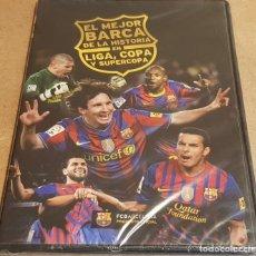 Coleccionismo deportivo: EL MEJOR BARÇA DE LA HISTORIA EN LIGA, COPA Y SUPERCOPA / ED. FCB - 2012. / PRECINTADO.. Lote 153319942