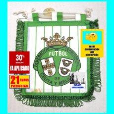 Coleccionismo deportivo: FEDERACIÓN TERRITORIAL DE FÚTBOL DE CEUTA Y MELILLA - BANDERÍN EN MINIATURA - AÑOS 80 - RARÍSIMO. Lote 153682278