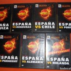 Colecionismo desportivo: COLECCION COMPLETA 7 DVD DVD`S ESPAÑA MUNDIAL FÚTBOL SUDÁFRICA 2010 CAMPEONES - TODOS LOS PARTIDOS. Lote 153725246