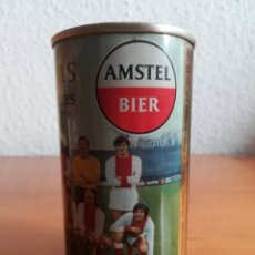 Coleccionismo deportivo: LATA CERVEZA AMSTEL BIER AJAX CRUYFF MICHELS 1969 AMSTERDAMSE FOOTBALL CLUB FÚTBOL CRUIJFF BEER CAN. Lote 155646337
