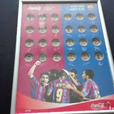Coleccionismo deportivo: CHAPAS COCA-COLA F.C.BARCELONA 2005-2006. Lote 155663394