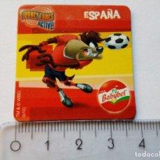 Coleccionismo deportivo: BABYBEL LOONEY TUNES ACTIVE ESPAÑA DIABLO DE TASMANIA IMÁN NEVERA MAGNET 2010. Lote 156587534