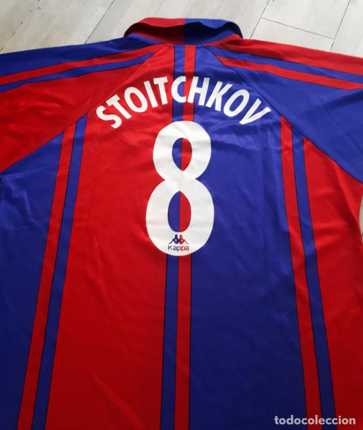 Coleccionismo deportivo: equipacion ( camiseta y pantalon ) kappa f.c. barcelona Supercopa de Europa 1997 Stoichkov - Foto 2 - 255982315