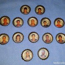 Coleccionismo deportivo: LOTE DE 14 CHAPAS DE COCA COLA JUGADORES FUTBOL BARCELONA VER FOTOS Y DESCRIPCION. Lote 158418738