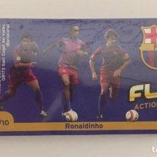 Colecionismo desportivo: FLIP ACTION IMAGES DEL BARÇA Nº2 RONALDINHO Y MESSI BARÇA F.C.BARCELONA PRECINTADO. Lote 159445046