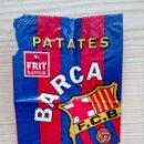 Coleccionismo deportivo: BOLSA ENVASE PAQUETE PATATAS VACIA F.C. BARCELONA - PATATES FREGIDES BARCA. Lote 160422594