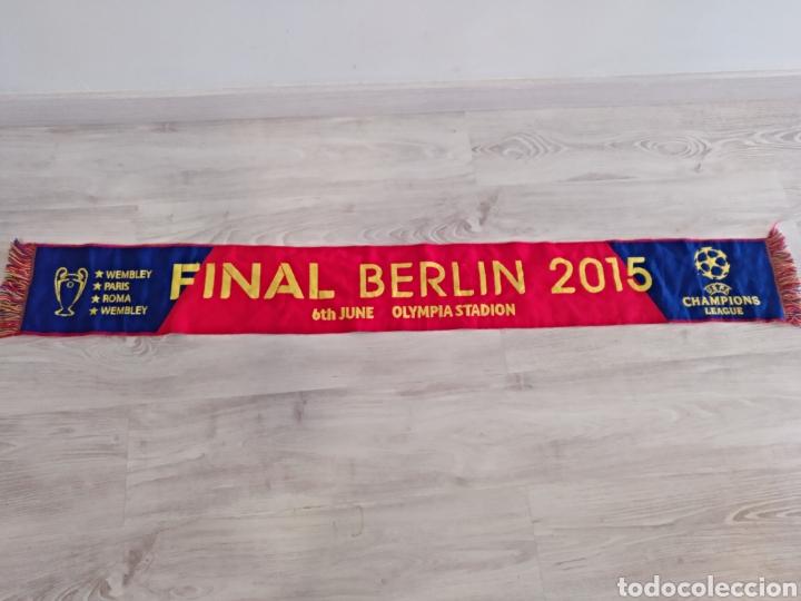 BUFANDA SCARF FINAL CHAMPIONS LEAGUE 2015 BERLIN FUTBOL CLUB BARCELONA (Coleccionismo Deportivo - Merchandising y Mascotas - Futbol)
