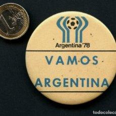 Coleccionismo deportivo: FÚTBOL, CHAPA PUBLICITARIA, COPA MUNDIAL DE FÚTBOL DE 1978, ARGENTINA. Lote 160883058