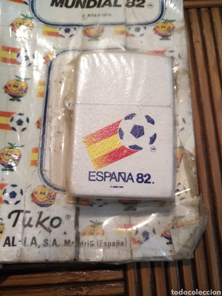 Coleccionismo deportivo: Mechero naranjito blanco mundial 82 fútbol 1982 Tuko zipo España, !!Abierto¡¡ - Foto 2 - 161024852