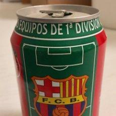 Coleccionismo deportivo: LATA COCACOLA FC BARCELONA LIGA 1996-97. Lote 162317470