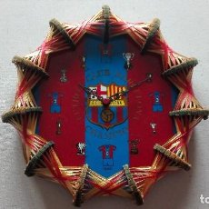 Coleccionismo deportivo: RELOJ ARTESANAL F.C BARCELONA. Lote 162495422