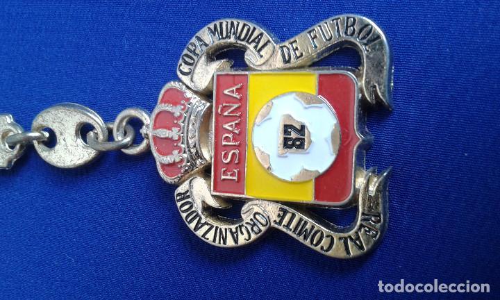 LLAVERO REAL COMITE ORGANIZADOR COPA MUNDIAL DE FUTBOL 1982 ESPAÑA (Coleccionismo Deportivo - Merchandising y Mascotas - Futbol)