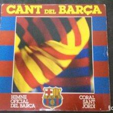 Coleccionismo deportivo: DISCO LP DE VINILO-CANT DEL BARÇA-FUTBOL CLUB BARCELONA-SPORT-SELLO PDI-1984. Lote 165229326