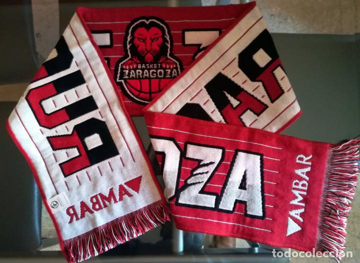 BUFANDA BALONCESTO SCARF BASKETBALL ZARAGOZA CERVEZA AMBAR BASKET (Coleccionismo Deportivo - Merchandising y Mascotas - Futbol)