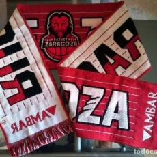 Coleccionismo deportivo: BUFANDA BALONCESTO SCARF BASKETBALL ZARAGOZA CERVEZA AMBAR BASKET. Lote 166137986