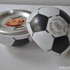 Coleccionismo deportivo: BALON CENICERO WORLD CUP 1982 NARANJITO. Lote 166279234