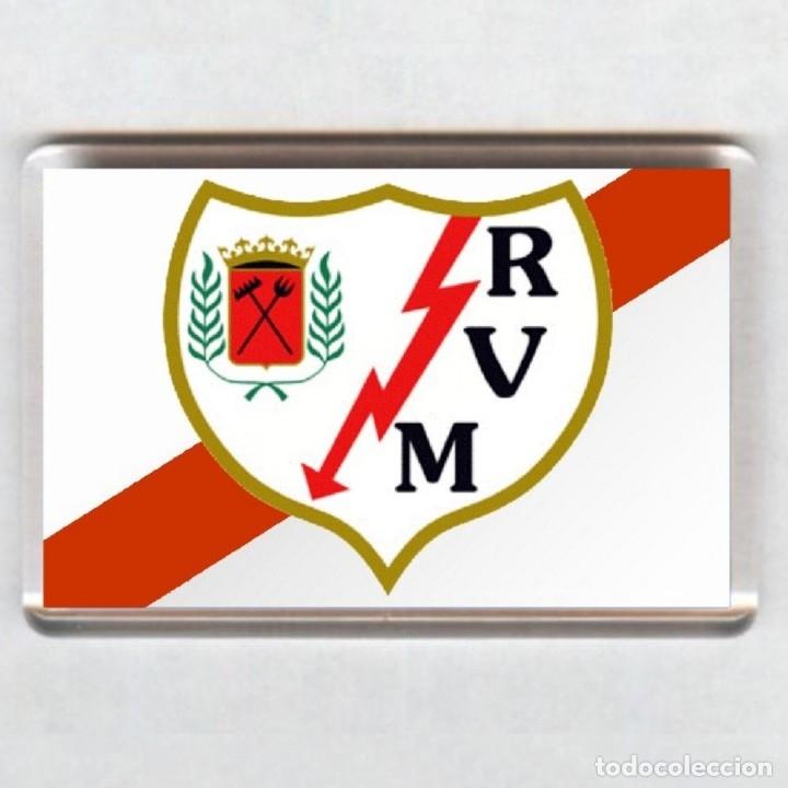 IMAN ACRÍLICO NEVERA - FUTBOL # RAYO VALLECANO (Coleccionismo Deportivo - Merchandising y Mascotas - Futbol)