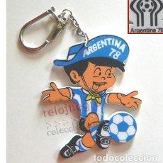 Coleccionismo deportivo: LLAVERO DE GAUCHITO MASCOTA DEL MUNDIAL FÚTBOL ARGENTINA 78 - DEPORTE - COPA DEL MUNDO AÑO 1978 NIÑO. Lote 167141816