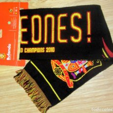 Coleccionismo deportivo: BUFANDA FUTBOL SCARF FOOTBALL OFICIAL SELECCION ESPAÑOLA CAMPEON MUNDO MUNDIAL SUDAFRICA 2010. Lote 177064182