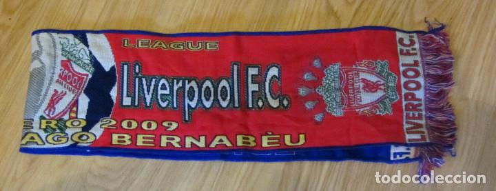 Coleccionismo deportivo: BUFANDA MATCH DAY SCARF FOOTBALL UEFA CHAMPIONS LEAGUE REAL MADRID LIVERPOOL - Foto 1 - 168443032