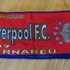 Coleccionismo deportivo: BUFANDA MATCH DAY SCARF FOOTBALL UEFA CHAMPIONS LEAGUE REAL MADRID LIVERPOOL. Lote 168443032