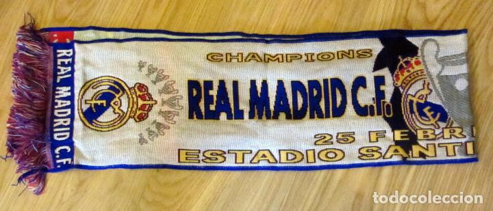 Coleccionismo deportivo: BUFANDA MATCH DAY SCARF FOOTBALL UEFA CHAMPIONS LEAGUE REAL MADRID LIVERPOOL - Foto 2 - 168443032