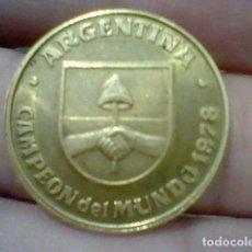 Coleccionismo deportivo: ARGENTINA MONEDA PROMOCIONAL PREMIUM YOGUR DANONE MUNDIAL 1982 USADA. Lote 168495008