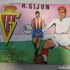 Coleccionismo deportivo: PEGASIN. R. GIJON. REAL SPORTING DE GIJON. SOBRE SIN ABRIR. RECORTA, DESPEGA Y PEGA. 30 GRAMOS.. Lote 168819100