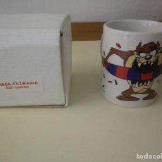 Coleccionismo deportivo: TAZA BARÇA FC BARCELONA CON EL DEMONIO DE TASMANIA - WARNER BROS - SPORT 1997. Lote 168901957