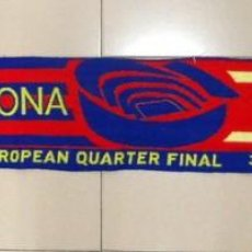 Coleccionismo deportivo: BUFANDA SCARF MATCH DAY PARTIDO JUGADO FÚTBOL FC BARCELONA ARSENAL CHAMPIONS LEAGUE 09/10 CUARTOS. Lote 169235220