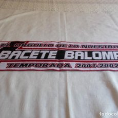 Coleccionismo deportivo: BUFANDA ALBACETE BALOMPIÉ. Lote 170068108