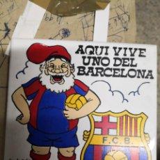 Coleccionismo deportivo: AZULEJO ALCORA DEL BARCELONA-AQUI VIVE UNO DEL BARCELONA-15X15CM. Lote 170266868