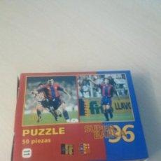 Coleccionismo deportivo: PUZZLE SUPER BARÇA 96 DE 50 PIEZAS Nº 11 HAGI Y MORENO - EL MUNDO DEPORTIVO . Lote 171344563