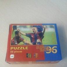 Coleccionismo deportivo: PUZZLE SUPER BARÇA 96 DE 50 PIEZAS Nº 1 DE LA PEÑA - EL MUNDO DEPORTIVO . Lote 171345000