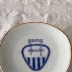 Coleccionismo deportivo: CENICERO DE PORCELANA DEL CLUB DEPORTIVO TERRASSA CLUB EGARA. . Lote 171403988