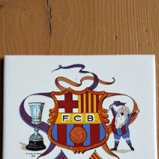 Coleccionismo deportivo: AZULEJO FUTBOL CLUB BARCELONA. Lote 171631072