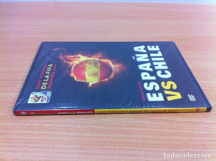 Coleccionismo deportivo: DVD FÚTBOL - MUNDIAL SUDÁFRICA 2010 - ESPAÑA VS CHILE - TERCER PARTIDO. PRECINTADO - Foto 2 - 171691042