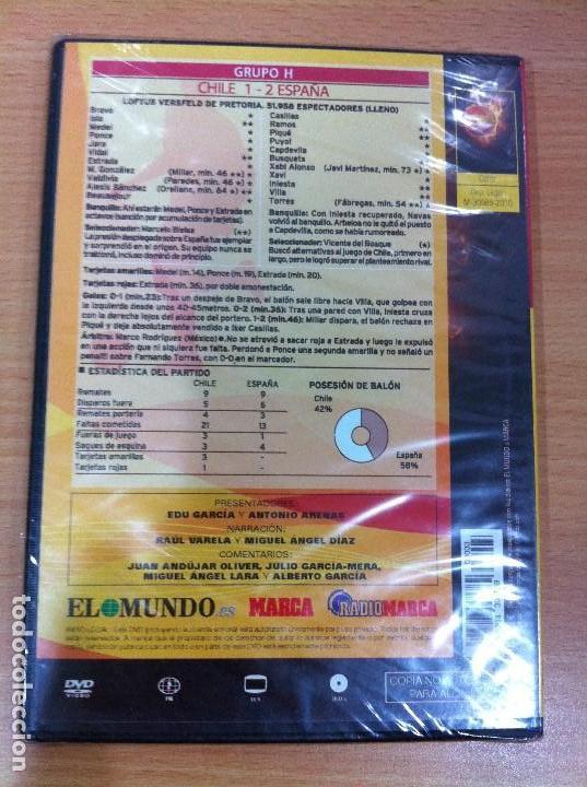 Coleccionismo deportivo: DVD FÚTBOL - MUNDIAL SUDÁFRICA 2010 - ESPAÑA VS CHILE - TERCER PARTIDO. PRECINTADO - Foto 3 - 171691042