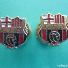 Coleccionismo deportivo: ANTIGUOS GEMELOS FUTBOL BARCELONA. Lote 172158449