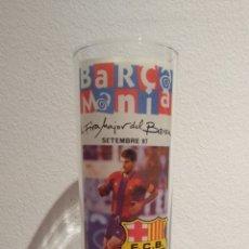 Coleccionismo deportivo: VASO DE TUBO DE LA FIRA MAJOR DEL BARÇA SEPTIEMBRE 1997 - BARÇA MANÍA. Lote 172342664