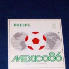 Coleccionismo deportivo: VENDO PEGATINA DEL MUNDIAL DE MEXICO´86, VER MAS FOTOS.. Lote 172660315
