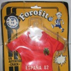 Coleccionismo deportivo: SELECCIÓN ESPAÑOLA, ESPAÑA 82, FOROFITO MINI-EQUIPACIÓN CON VENTOSA PARA EL COCHE AÑOS 80 NUEVO. Lote 172713814